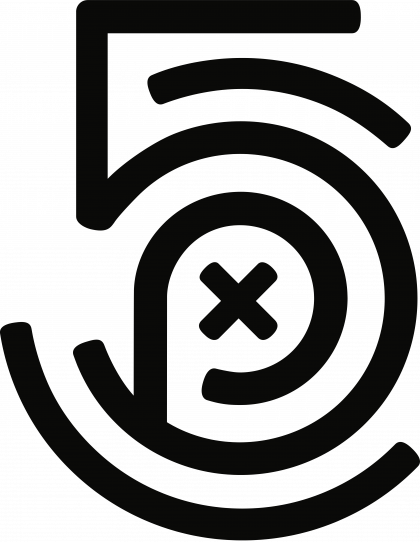 500px logo black
