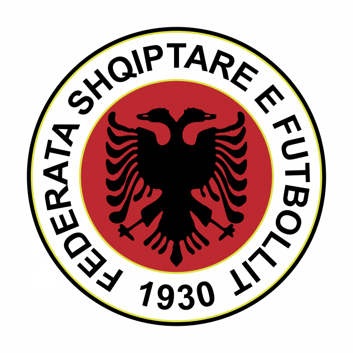 Albania Football Association logo red