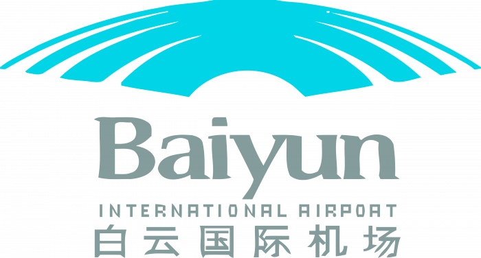 Baiyun International Airport logo blue