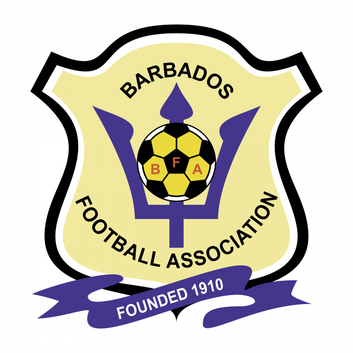 Barbados Football Association logo violet