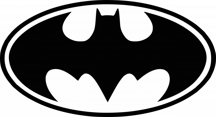 Batman logo black