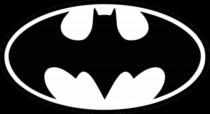 Batman logo black
