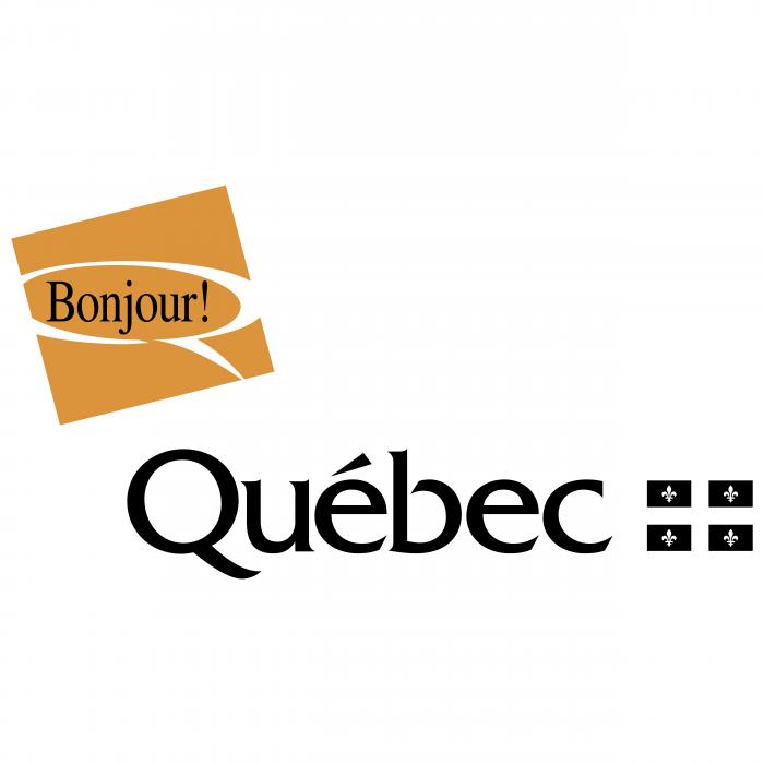 Bonjour Quebec logo gold