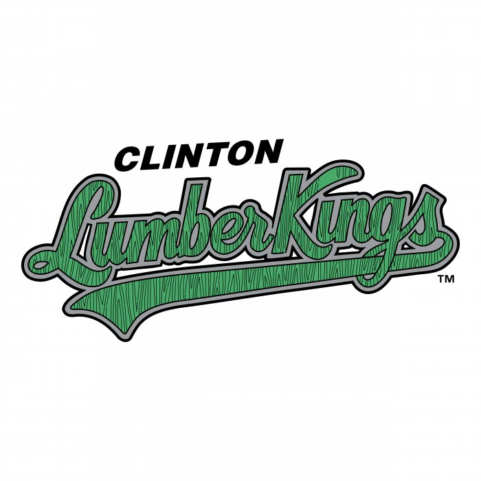 Clinton Lumberkings logo blue