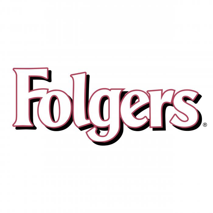 Folgers logo white