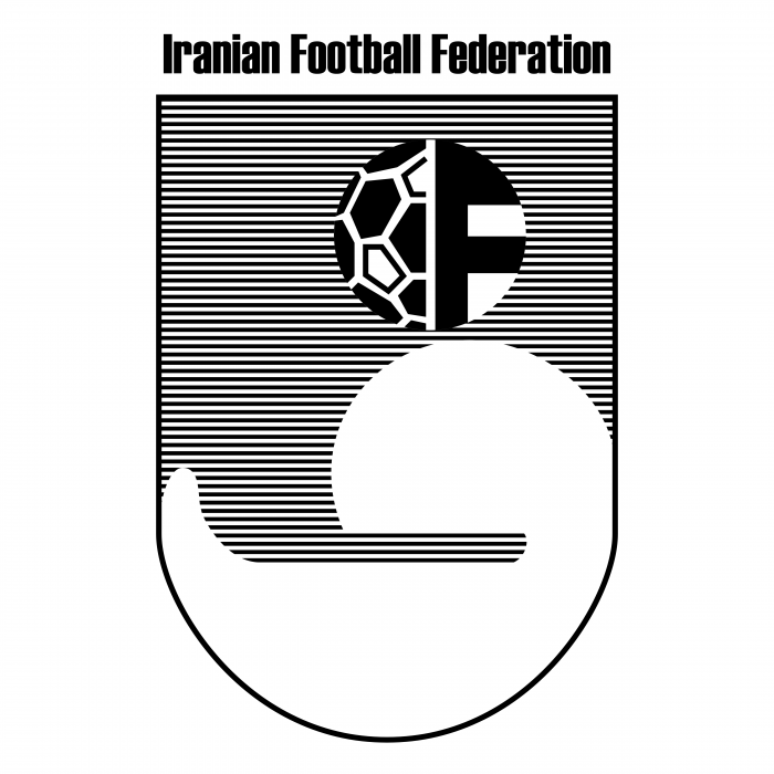 Iran Football Federation logo grey
