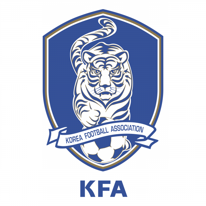 Korea Football Association logo blue