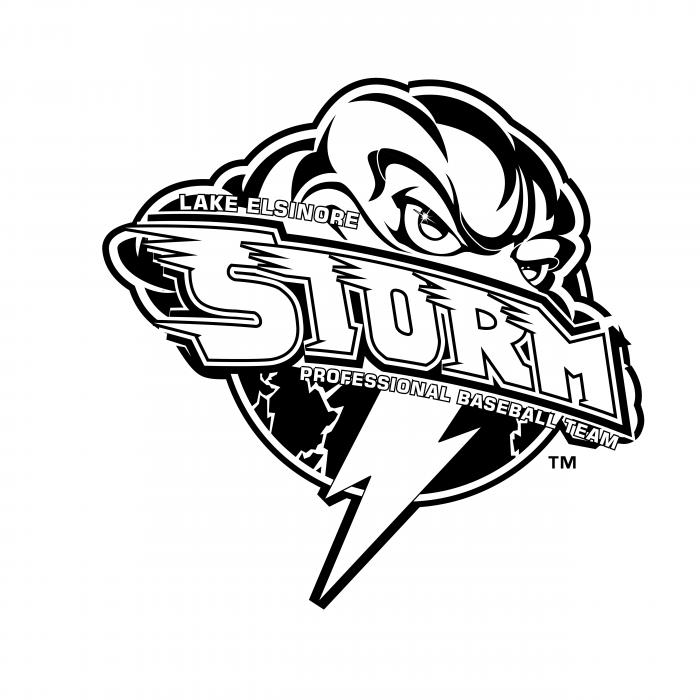 Lake Elsinore Storm logo black