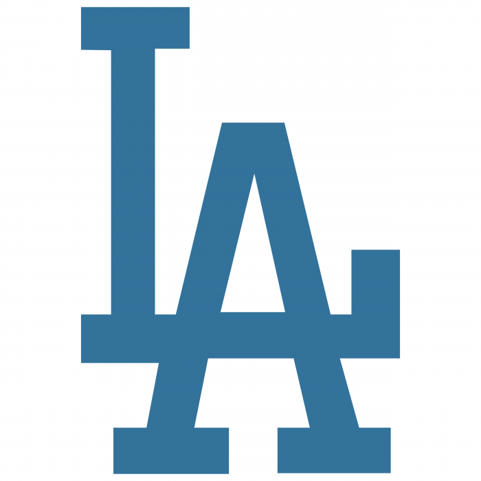 Los Angeles Dodgers logo LA blue