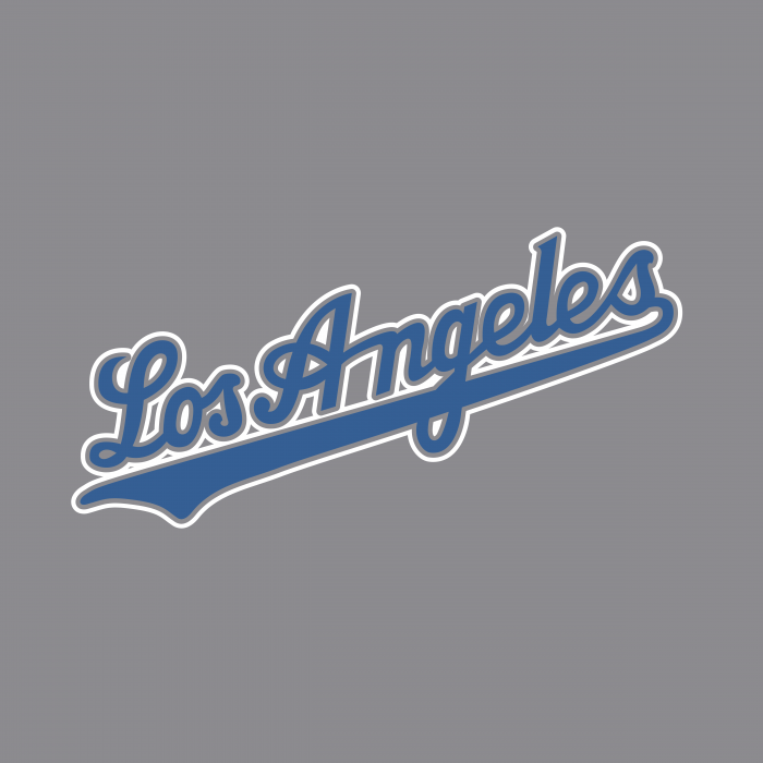 Los Angeles Dodgers logo grey