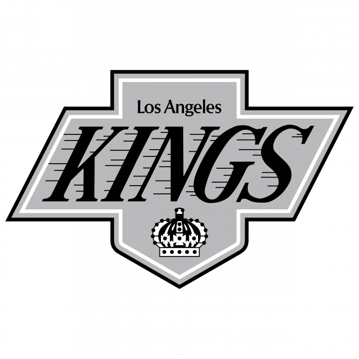 Los Angeles Kings logo grey