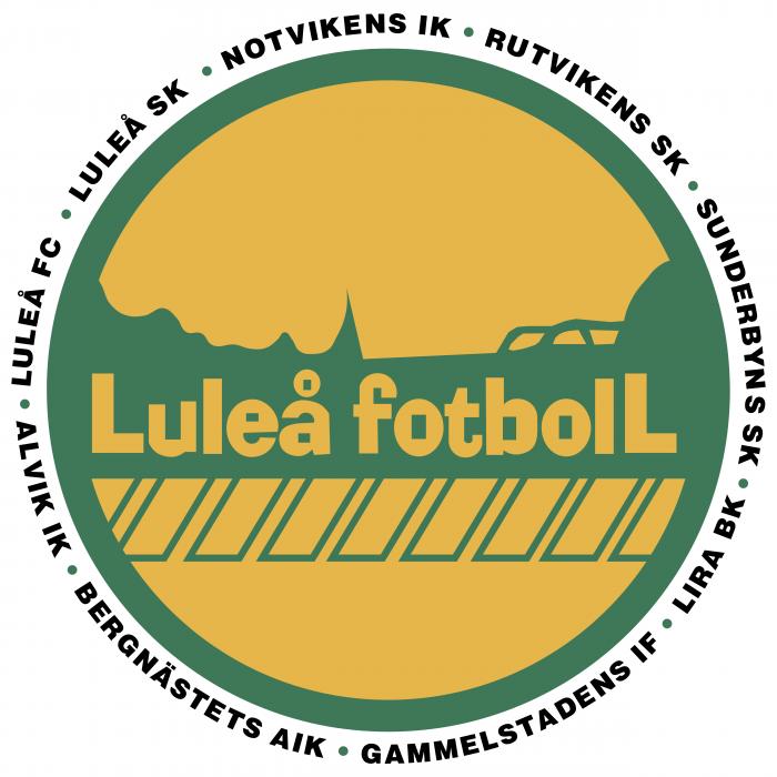 Lulea Fotboll logo circle