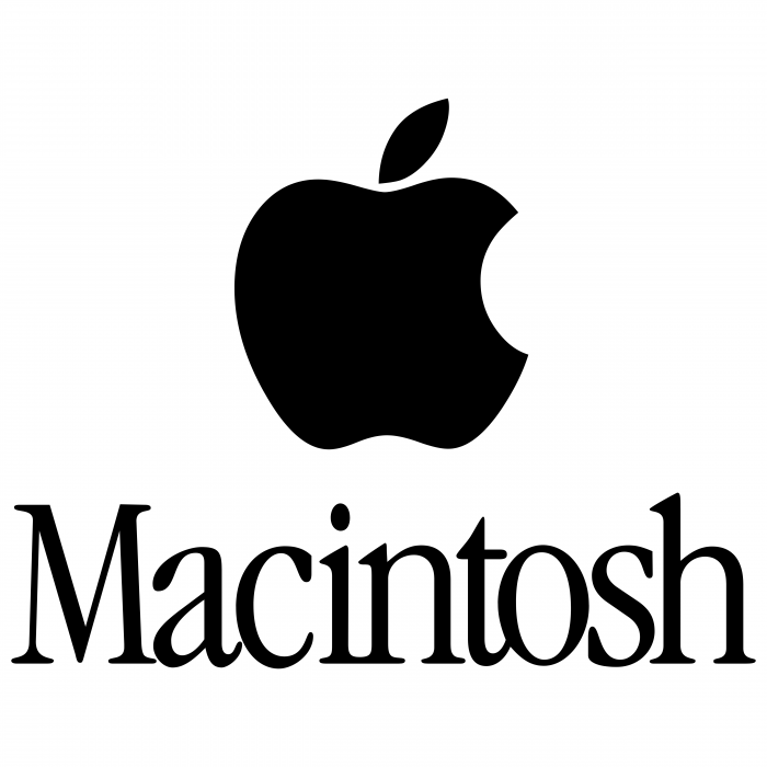 Macintosh logo black