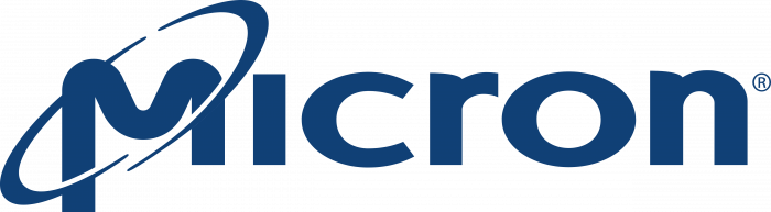 Micron Technology logo blue
