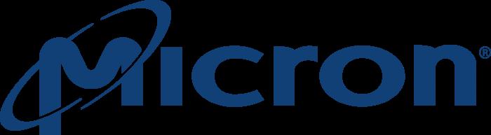 Micron Technology logo blue