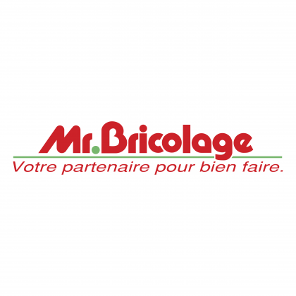 Mr. Bricolage logo red