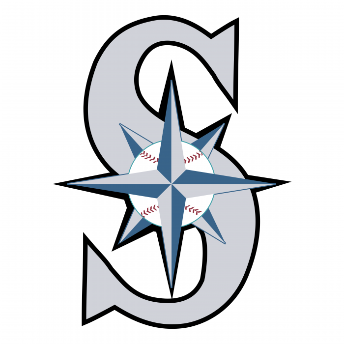 Seattle Mariners logo silver