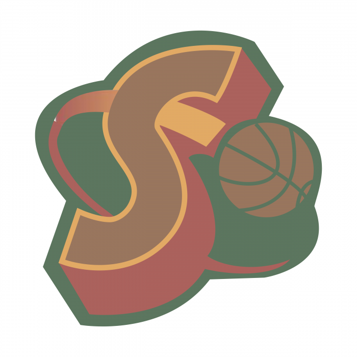 Seattle Supersonics logo ball