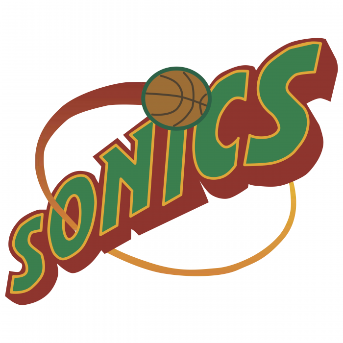 Seattle Supersonics logo red