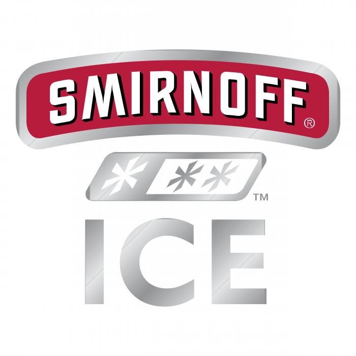 Smirnoff Ice logo silver