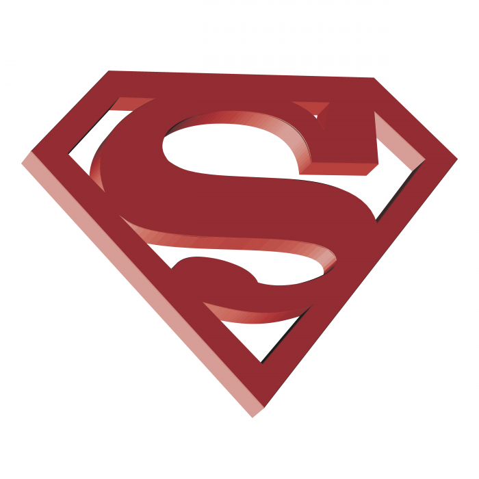 Superman logo red