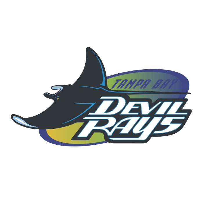 Tampa Bay Devil Rays logo colored