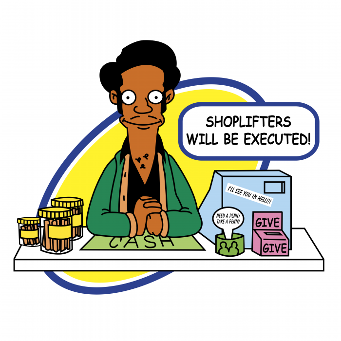 The Simpson logo shoplifters