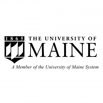 The University of Maine logo black