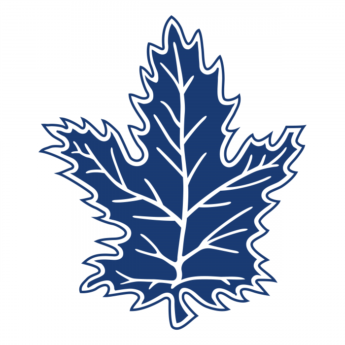 Toronto Maple Leafs logo blue leaf