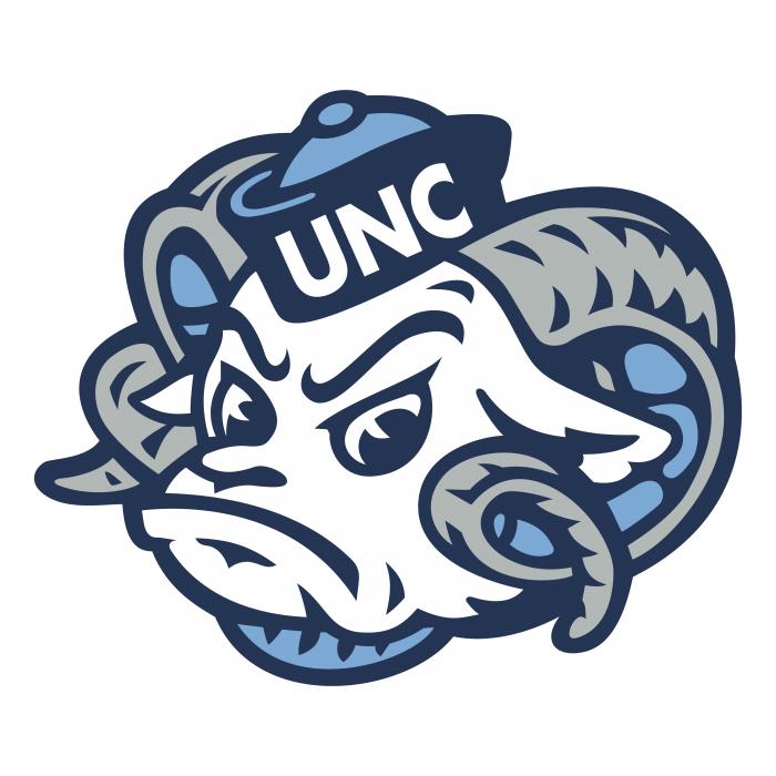 UNC Tar Heels logo bright head