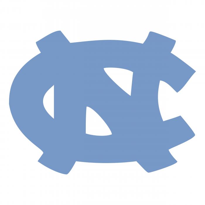 UNC Tar Heels logo light blue