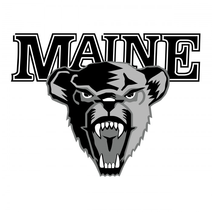 University of Maine Hockey logo black
