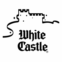 White Castle logo white