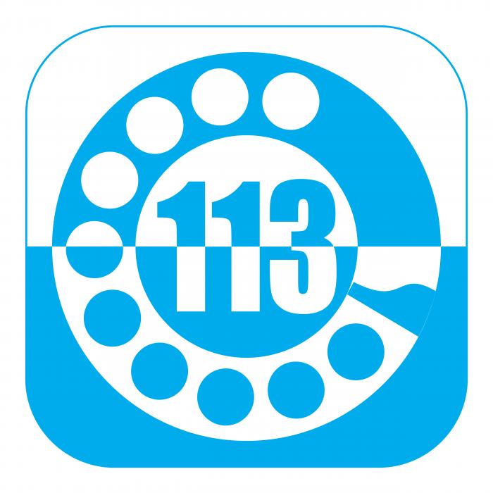 113 Polizia Italiana logo phone