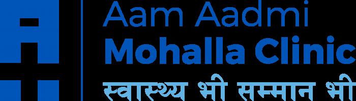 Aam Aadmi Mohalla Clinic logo blue