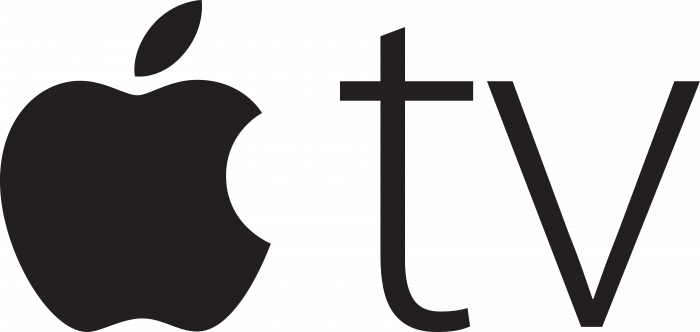 Apple TV logo violet