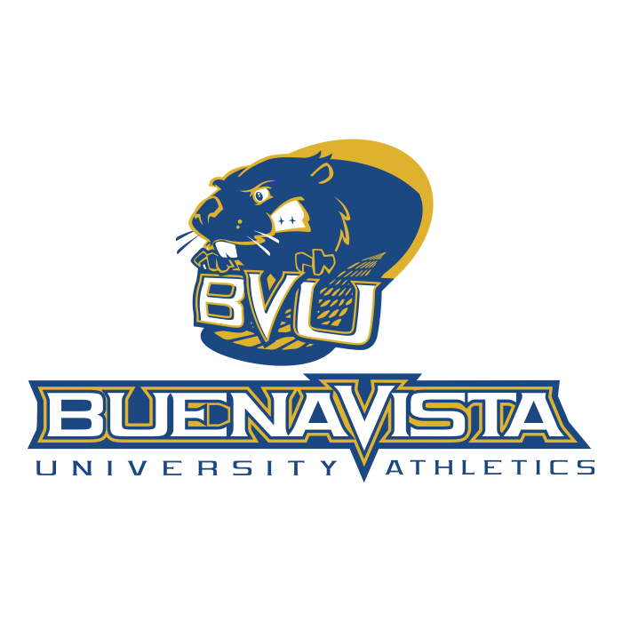 BVU Beavers logo blue yellow