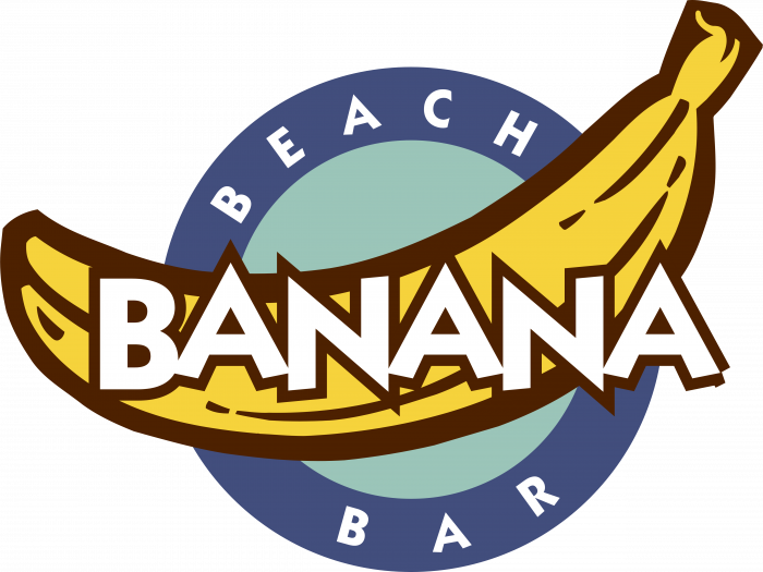 Banana logo blue