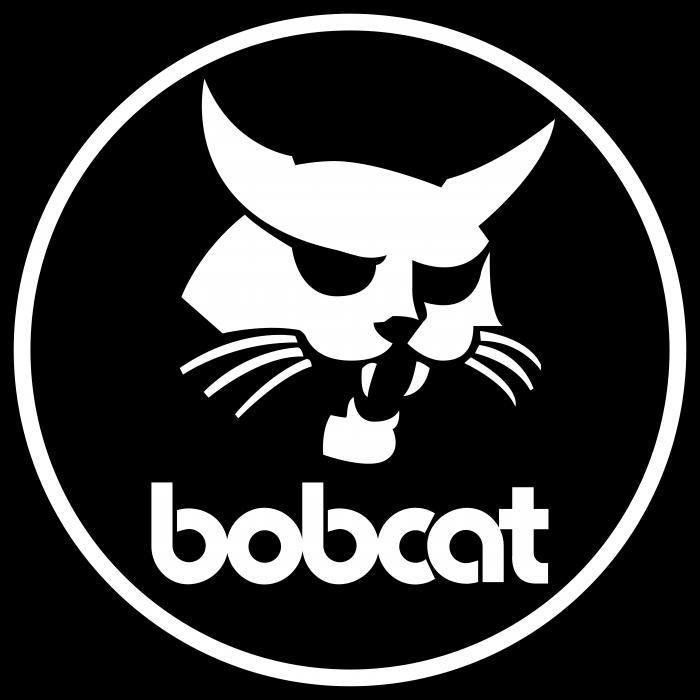 Bobcat logo black cercle