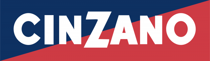 Cinzano logo blue red