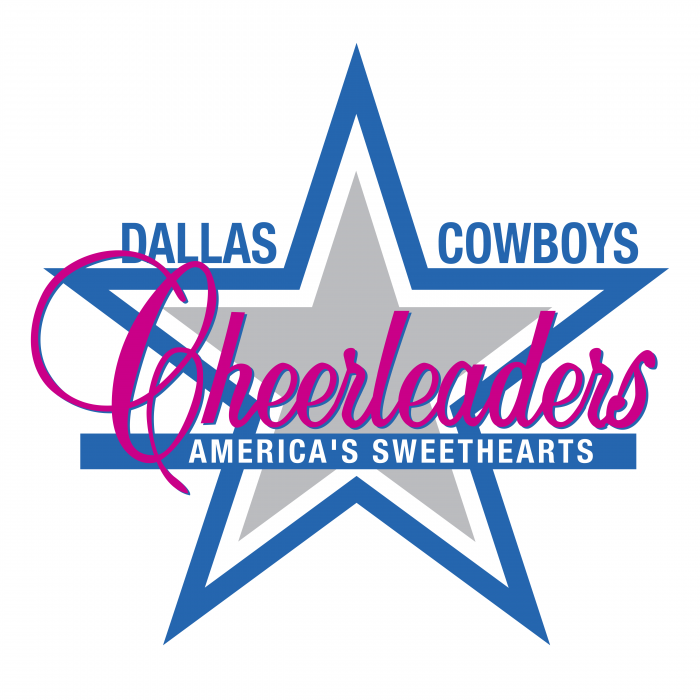 Dallas Cowboys logo cheerleaders