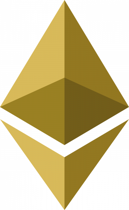 Ethereum logo gold