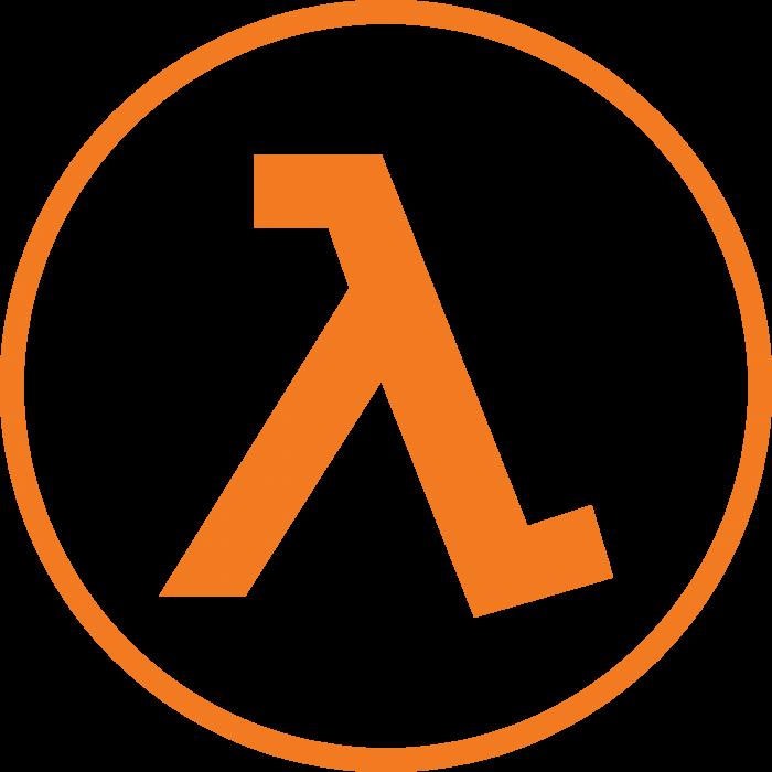 Half Life logo orange