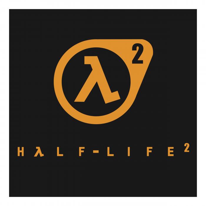 Half Life logo yellow