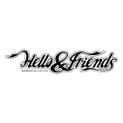 Hello and Friends logo black