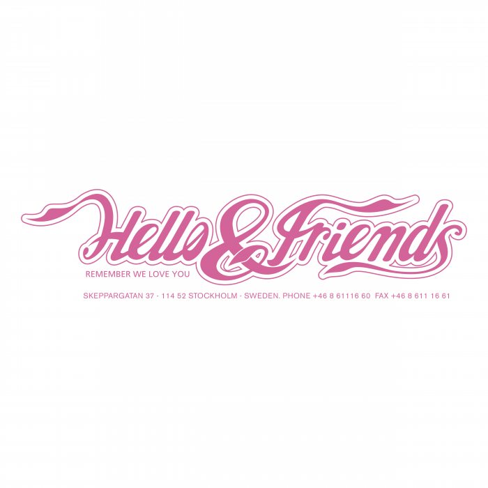 Hello and Friends logo pink