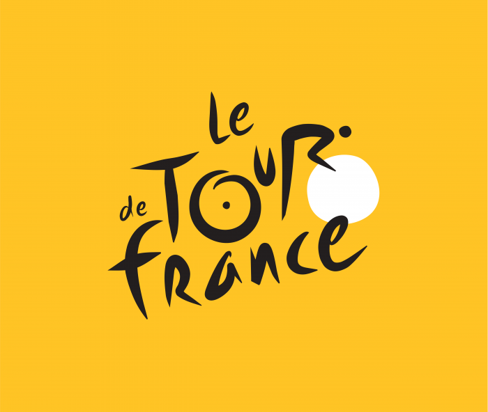 Le Tour de France logo yellow