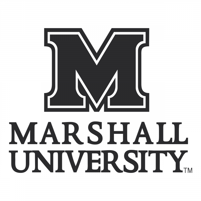 Marshall University logo black