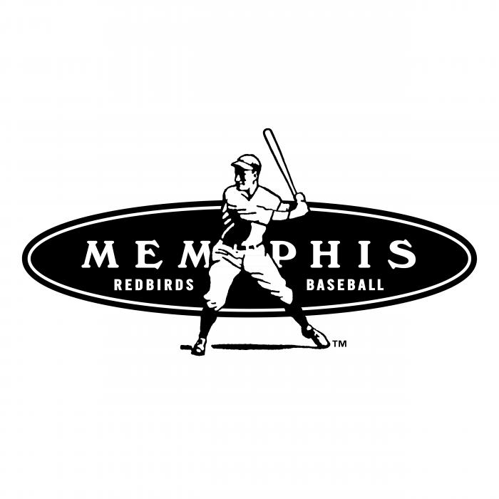 Memphis Redbirds logo black