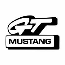 Mustang GT logo black